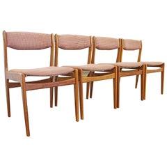 Set of 4 Mid-Century Modern Scandinavian Teak Dining Chairs