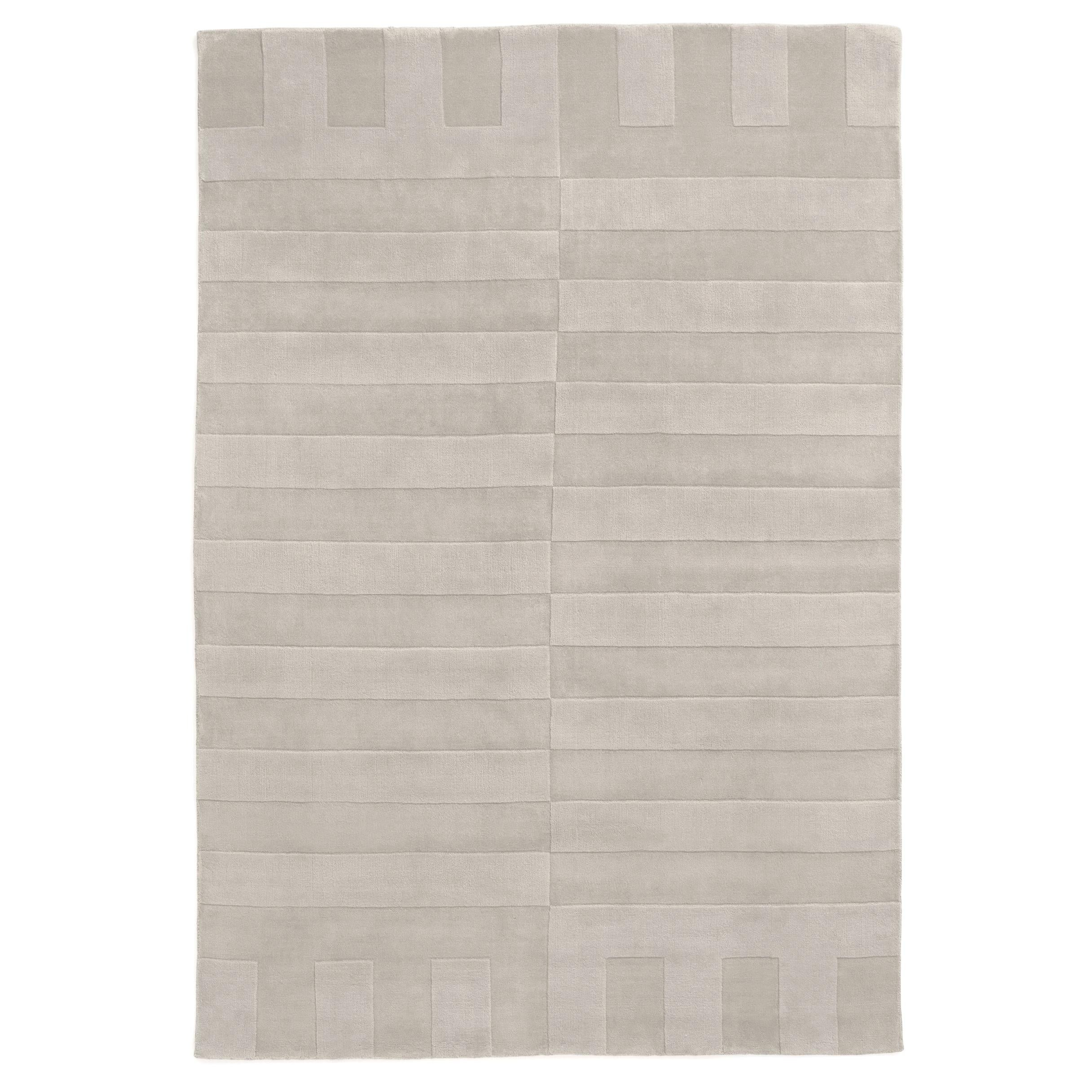 Lux 2 Oatmeal, Wool Cut Pile Rug in Scandinavian Design