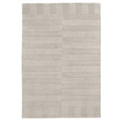 Lux 2 Oatmeal, Wool Cut Pile Rug in Scandinavian Design