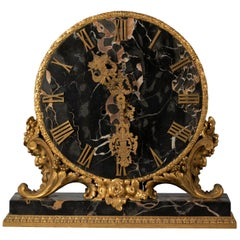 American Bronze and Marble Table Clock, E.F. Caldwell and Co., circa 1900