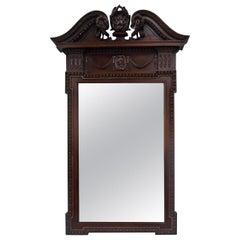 Carved Mahogany Georgian Style Wall Mirror