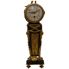 Clock Miniature Bronze Patinated and Gilded