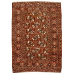 Antique Turkman Bokhara Tekke Tribal Rug