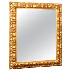 Mirror in Giltwood and Gesso from the 19th Century Period of Napoleon III
