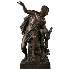 French Bronze of Apollo, by Mathurin Moreau
