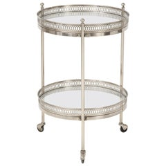 Two-Tier Bar Cart in Polished Nickel