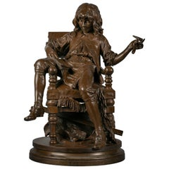 French Bronze of 'L'Enfant Moliere', by Adreien Etienne Gaudez, circa 1875