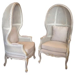 Pair of Caned Porter's Style Chairs