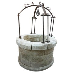 Antique French Limestone Well