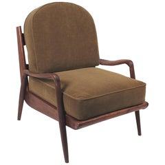 New Hope Lounge Chair from Phillip Lloyd Powell Studio in American Black Walnut