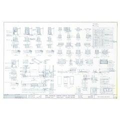 Mies van der Rohe Blueprint, One Charles Center, Baltimore, Door Schedule