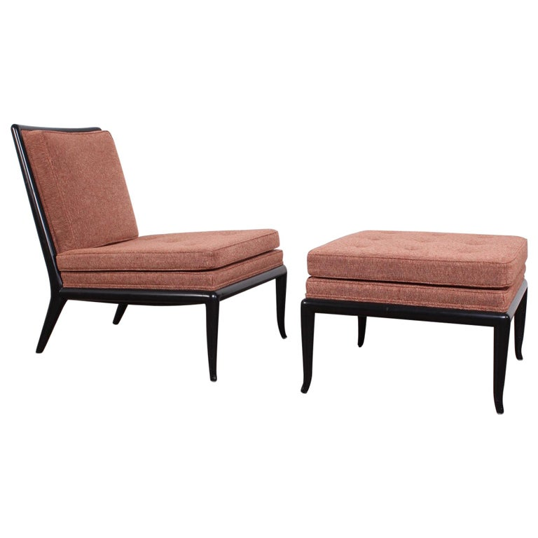 Lounge Chair and Ottoman by T.H. Robsjohn-Gibbings for Widdicomb For Sale