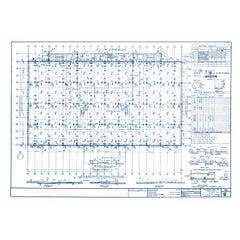 Original Mies van der Rohe Blueprint - Crown Hall, Chicago Basement + Foundation