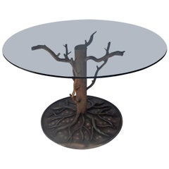"Painted Steel ""Tree and Branch"" Center Dining Table"