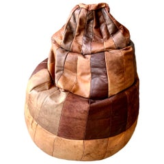 De Sede Brown Leather Patchwork Bean Bag