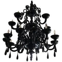 Murano Black Pendant Black
