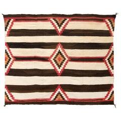Vintage Navajo Chiefs Blanket, Third Phase Pattern, circa 1900
