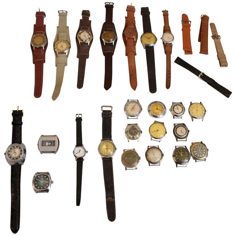 European Vintage Wristwatches Anker, Omega, Orion,  Lanco Swiss, Chronometre For Sale