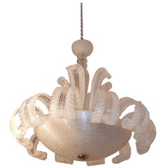 1950-1970 Chandelier Barovier y Toso Model Jet of Water to Murano