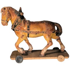 Antique Wooden Toy Horse, 19th Century ON SALE