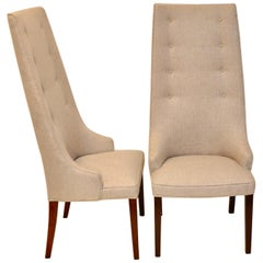 Pair of Midcentury Tall Back Dining Chairs from Denmark
