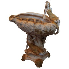 Art Nouveau Amphora Figurative Vase Center Bowl