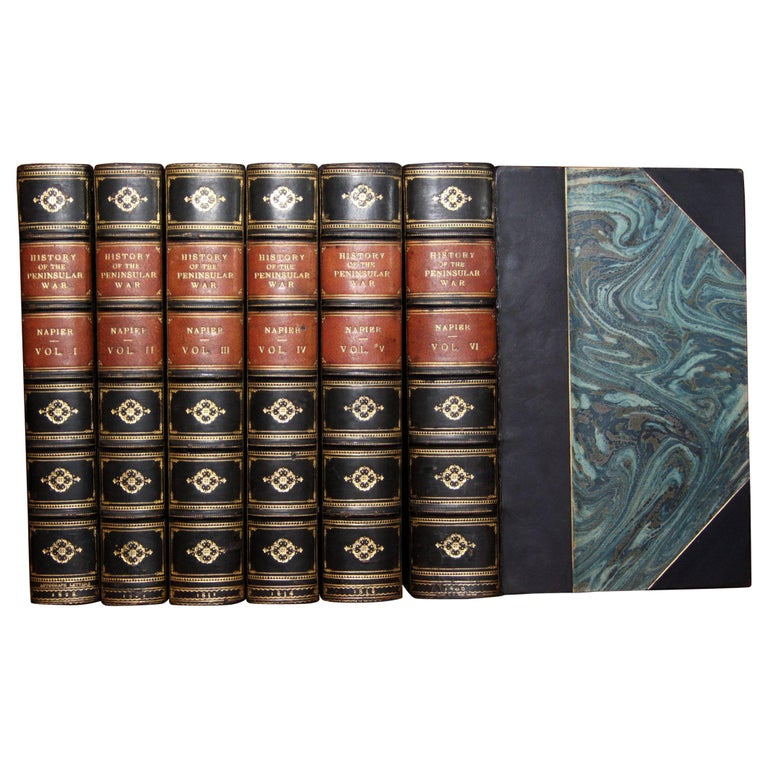 Books, History of the War in the Peninsula, Antique Leather-Bound Antique Set For Sale