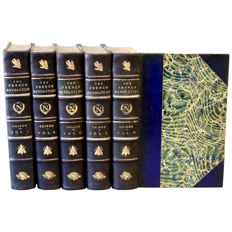 Books, the History of the French Revolution, Collection Antique Leatherbound Set For Sale
