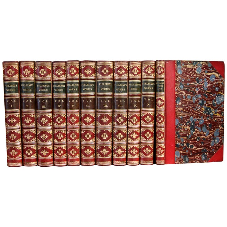 Books, The Works of Henry Fielding, Leather Bound and Antique Collection Set For Sale