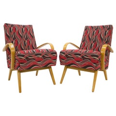 Set of Two Armchairs by Jaroslav Smidek for TON, 1960s