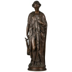 French Bronze of 'Sappho', by Jean Baptiste Clesinger, 19th Century