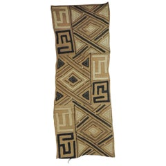 Vintage Brown and Black Earth Tones African Applique Kuba Textile