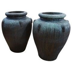 Pair of Terra Cotta Urns