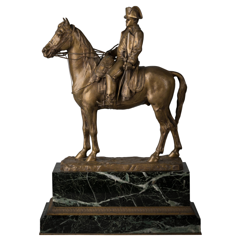 French Gilt Bronze Figure of Napoleon, Emile Pinedo
