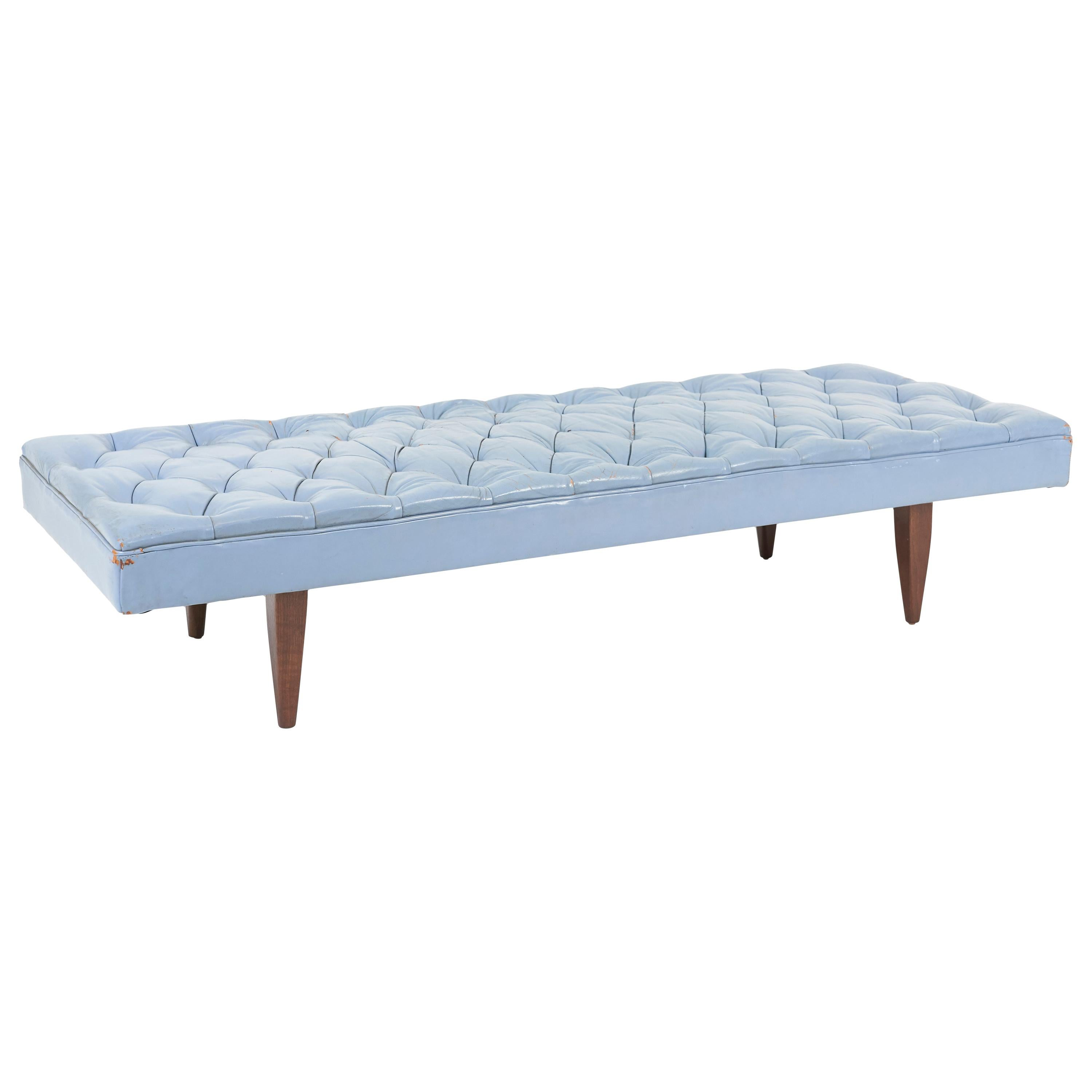 Kipp Stewart Chesterfield Tufted Leather Daybed, Calvin Furniture 1960s