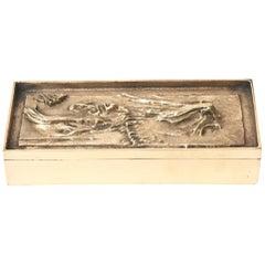 Arnoldo Pomodoro Bronze 2 Part Sculptural Italian Box