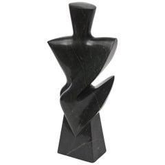 Vintage Modernist Granite Sculpture