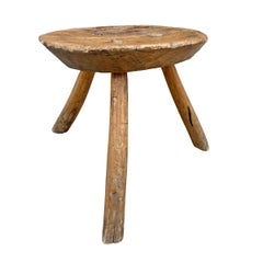 19th Century Primitive Milking Stool