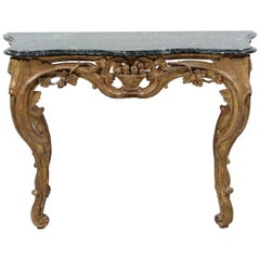 Italian Baroque Giltwood Console Table
