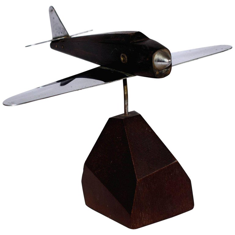 Art Deco Model Airplane Paper Weight For Sale