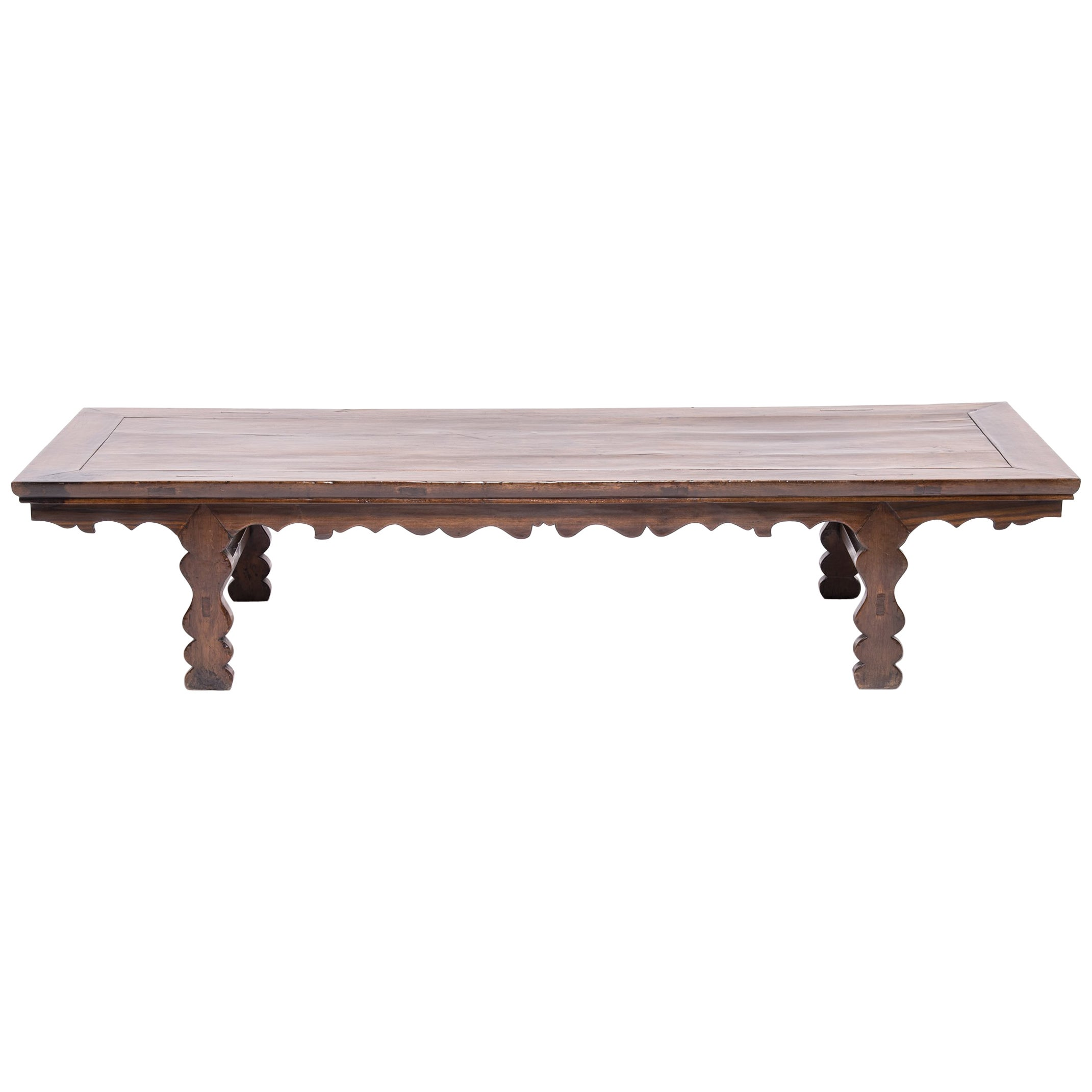 19th Century Chinese Low Table with Carved Apron