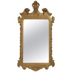19th Century English Georgian Style Gilt Wood over Mantle Mirror