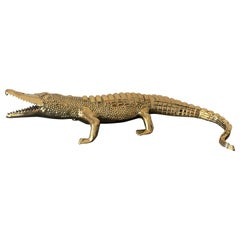 Brass Crocodile or Alligator Sculpture Pet