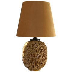 Gunnar Nylund Chamotte Stoneware Table Lamp for Rörstrand