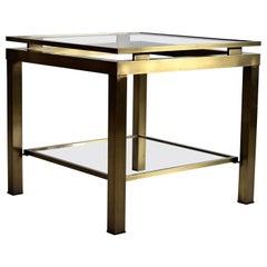 Maison Jansen Hollywood Regency Brass Side Table