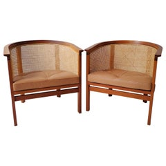 Danish Chairs in Mahogany and Leather by Rud Thygesen/Johnny Sorensen for Botium