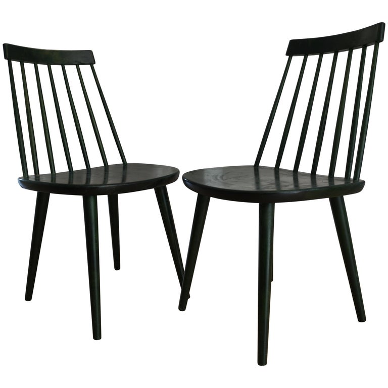 Admirable Swedish Midcentury Pinnockio Spindle Back Birch Dining Chairs By Yngve Ekstrom Alphanode Cool Chair Designs And Ideas Alphanodeonline