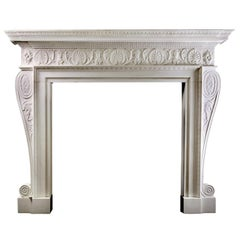 Adam Style Marble Fireplace