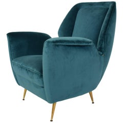 Midcentury Lounge Chair in the Style of Gio Ponti, circa 1950