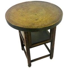 1910s Historicism Side Table or End Table with Egyptian Hieroglyphics